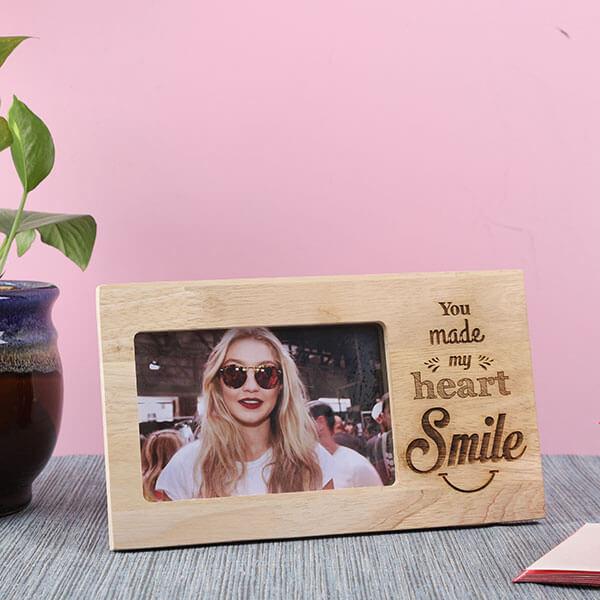 Customised Smile Wooden Frame