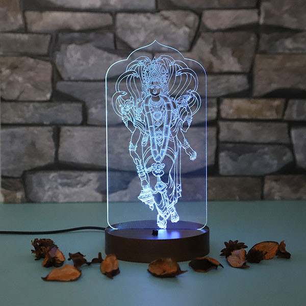 Lord Vishnu Led Lamp