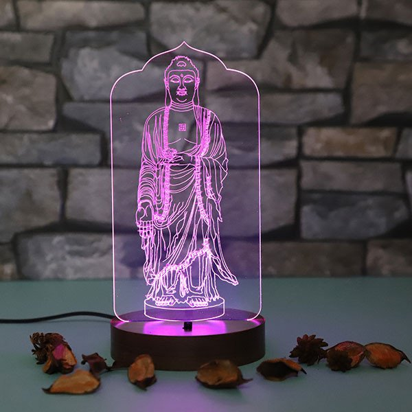 Lord Buddha Led Lamp