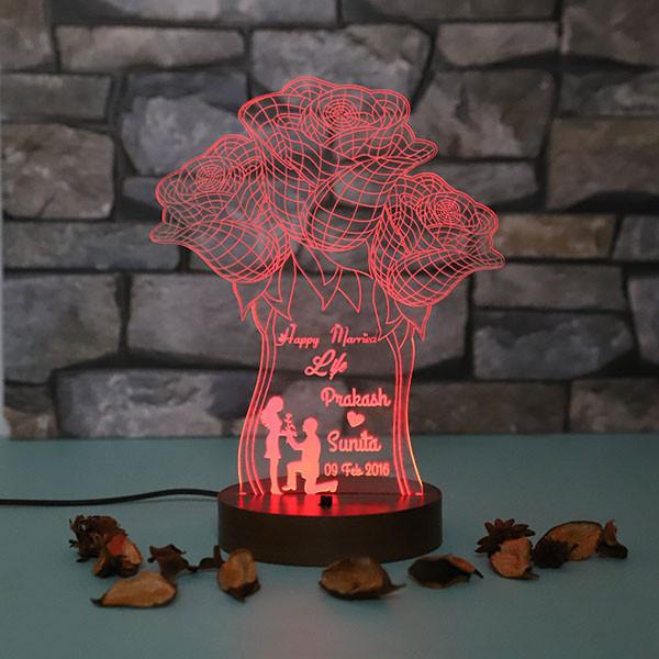Roses Led Lamp