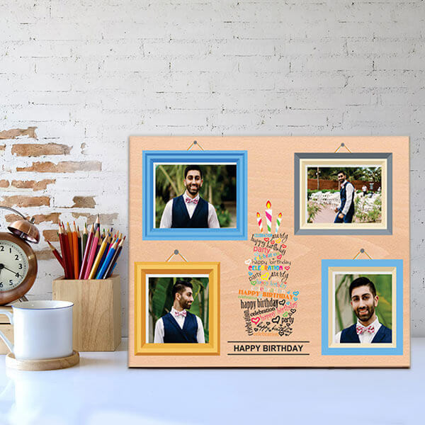 Personalised Wooden Birthday Frame