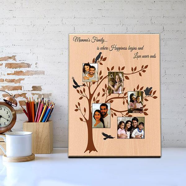 Family Tree Wooden Photo Frame
