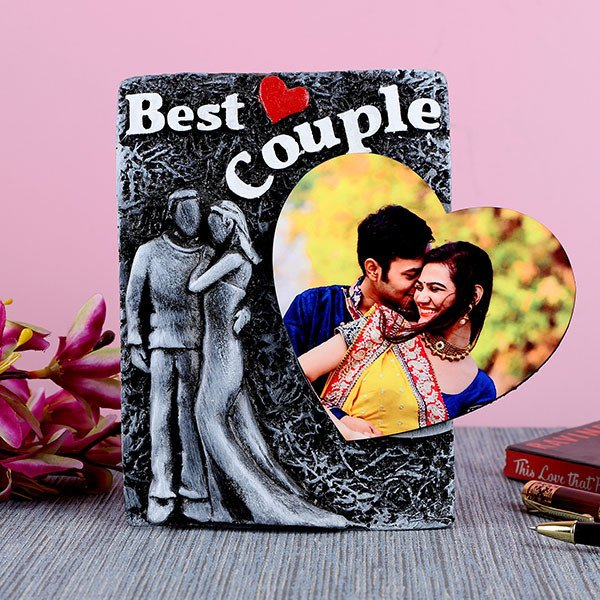 Personalised Best Couple Photo Frame With Heart