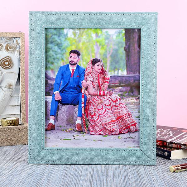 Customised Denim Photo Frame