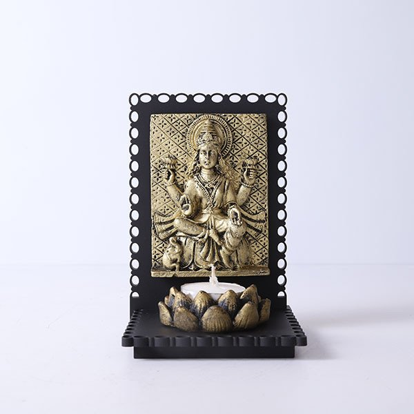 Maa Laxmi Idol T Light Holder