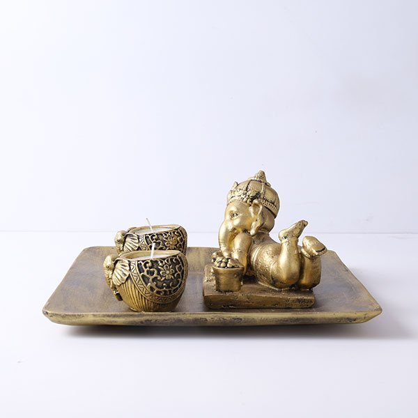 Ganesha T Light Holder