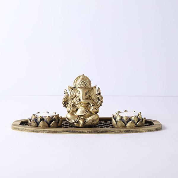 Ganpati Gift Set In An Oval Shape Tray