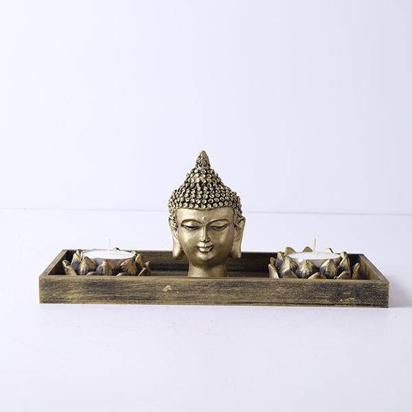Buddha God Head With T Light Holder