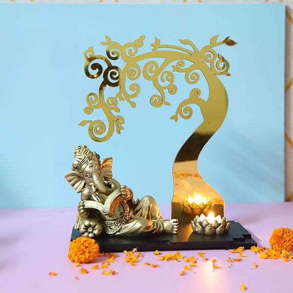 Ganesha Below Divine Tree
