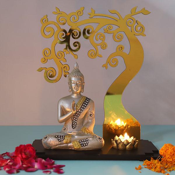 Preaching Buddha Below Divine Tree