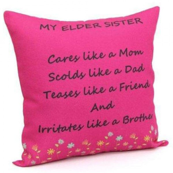 Printed Cushion For Sister