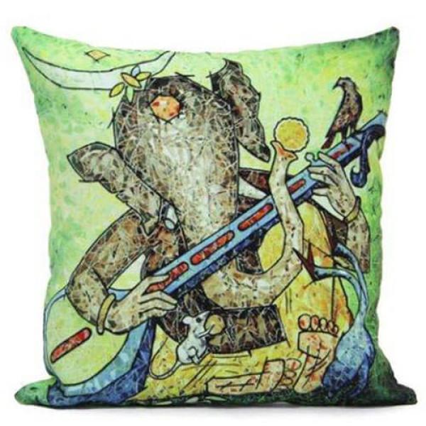 Ganesh Print Cushion
