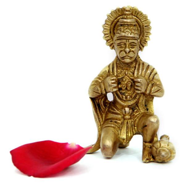 Godly Hanuman Brass Figurine