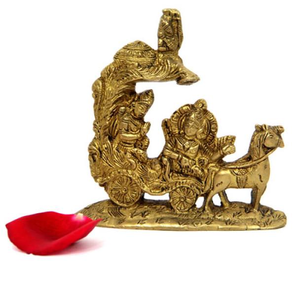 Brass Arjun Rath Idol