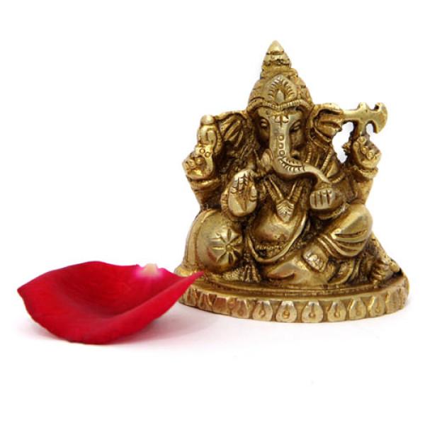 Godly Ganesha Brass Figurine