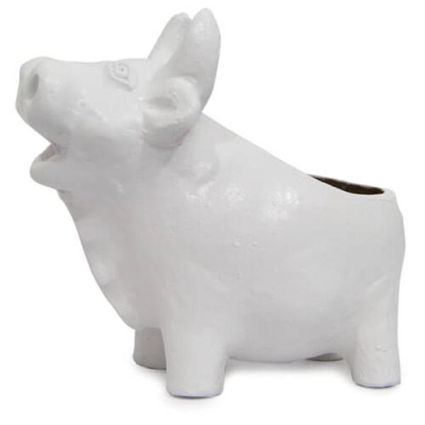 White Pig Planter