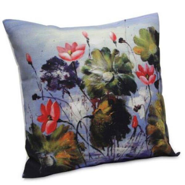 Abstract Flora Cushion