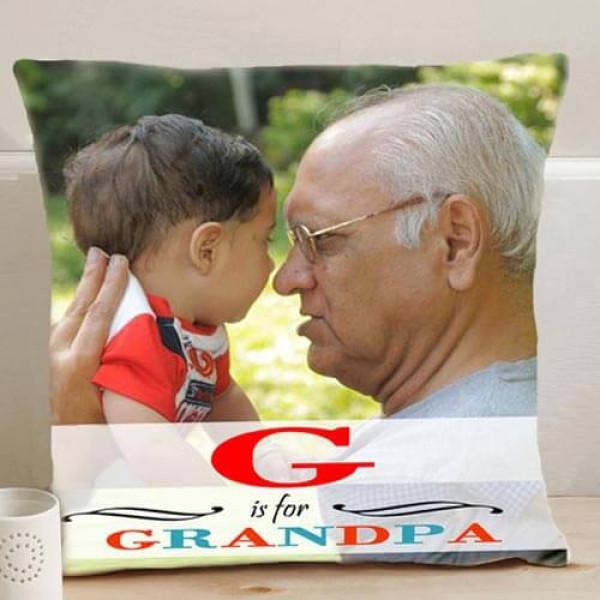 Personalize Grandpa Cushion
