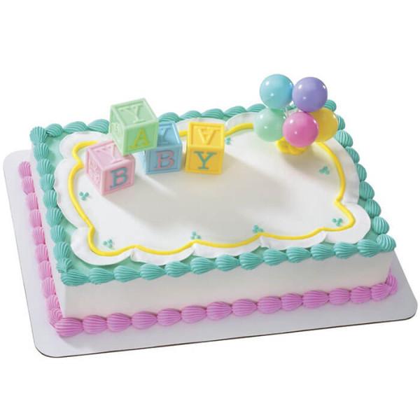 Alpha Num Baby Shower Cake