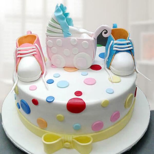 Booties Baby Shower Cake