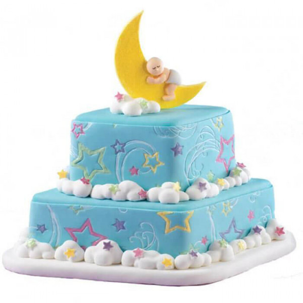 Yellow Baby Bum Baby Shower Cake