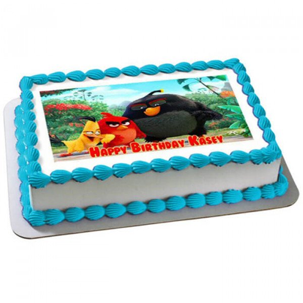 Angry Birds Photo Cake