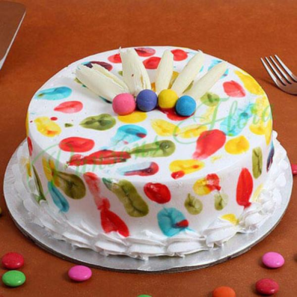 Holi Special Pineapple Cake