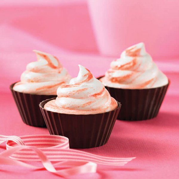 Butterscotch Top Pink 6 Cup Cake