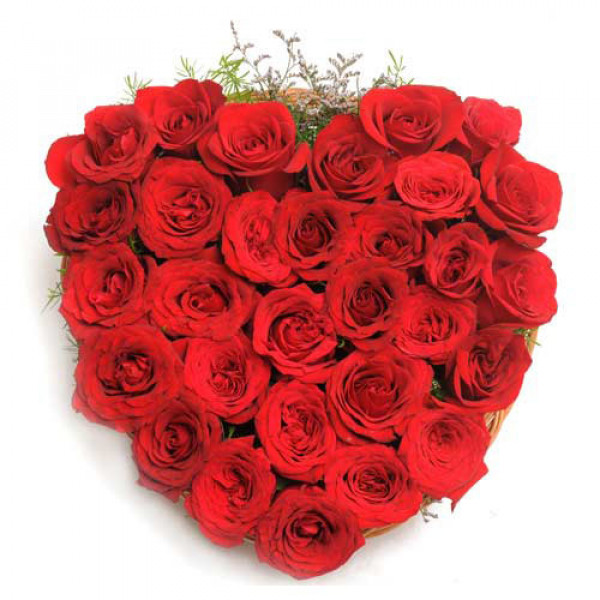 The Blooming Love 30 Red Roses