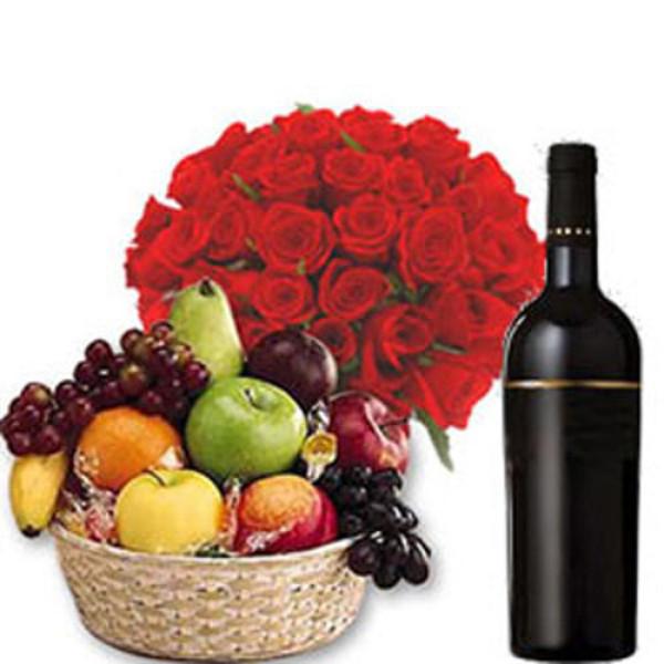 Fruits n Wine Hamper