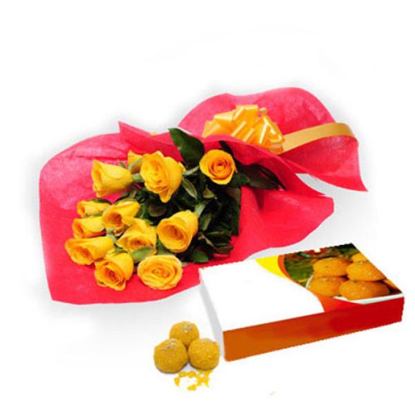 Roses N Motichur Laddu