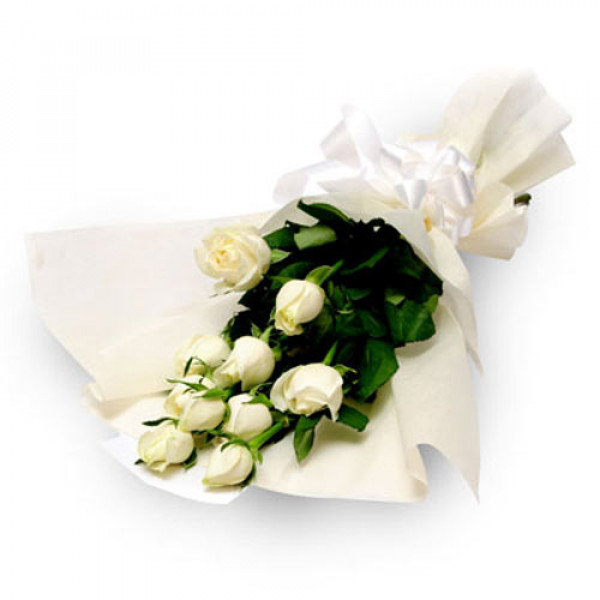 Purity 10 White Roses