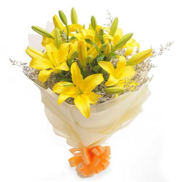 Sunshine 6 Yellow Lilies
