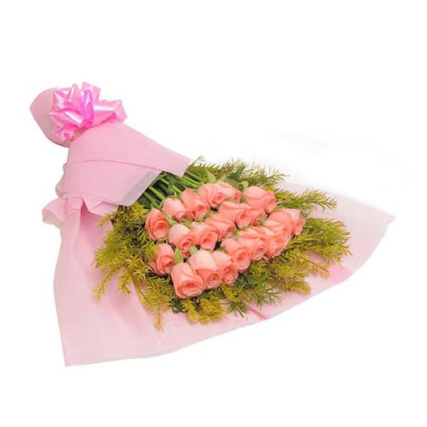 Blush 20 Baby Pink Roses