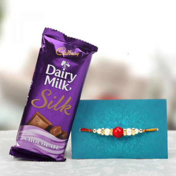 Jubilant Pack Rakhi With Chocolate