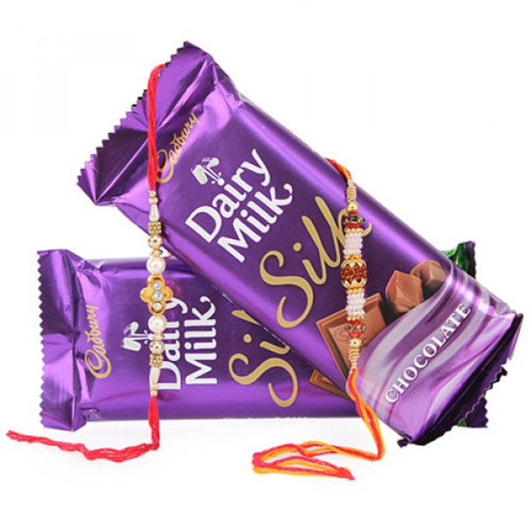Rakhi With Cadbury Silk