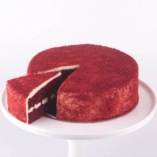 Red Velvet Round Cut Cake