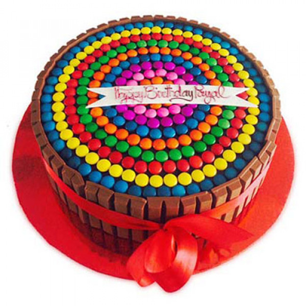 Rainbow Candy Cake 1kg - Birthday Cake Online Delivery