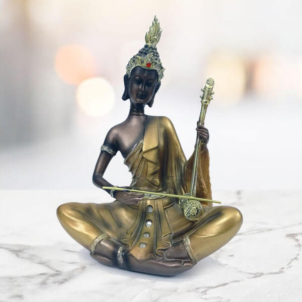 Goodease Divine Buddha Statue Playing Musical Instruments