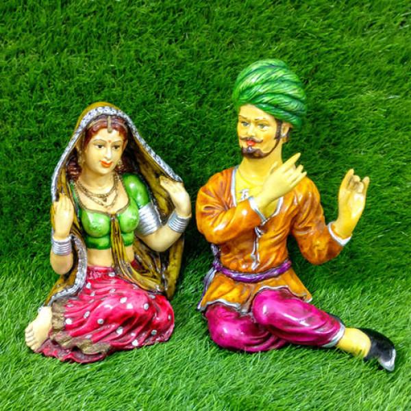 Rajasthani Love Couple Statue