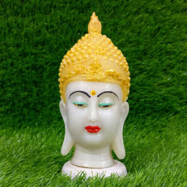 Poly Resin Crown Buddha Head