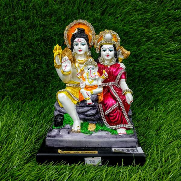 Shiva Parvati And Ganesha Idol