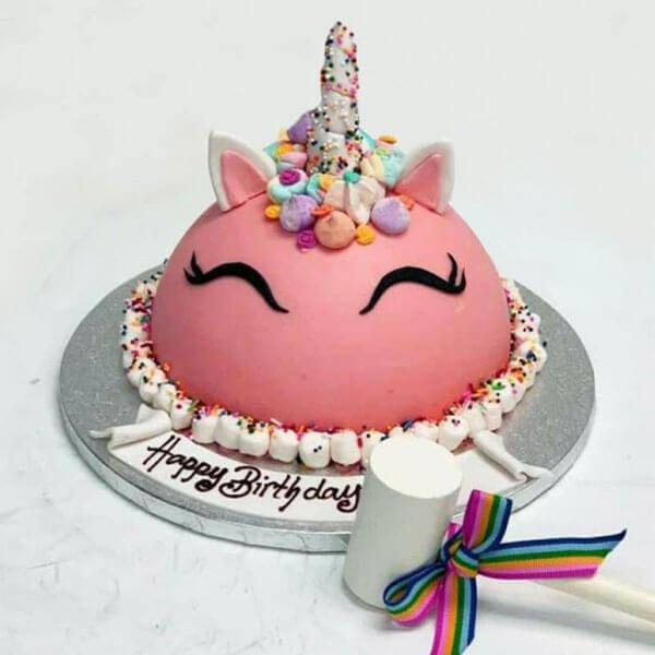 Pink Unicorn Pinata Cake