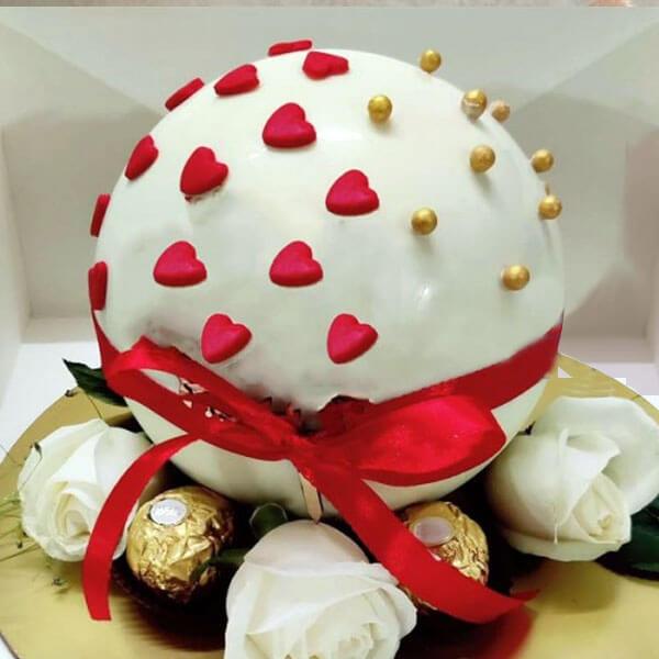 White Chocolate Pinata Cake