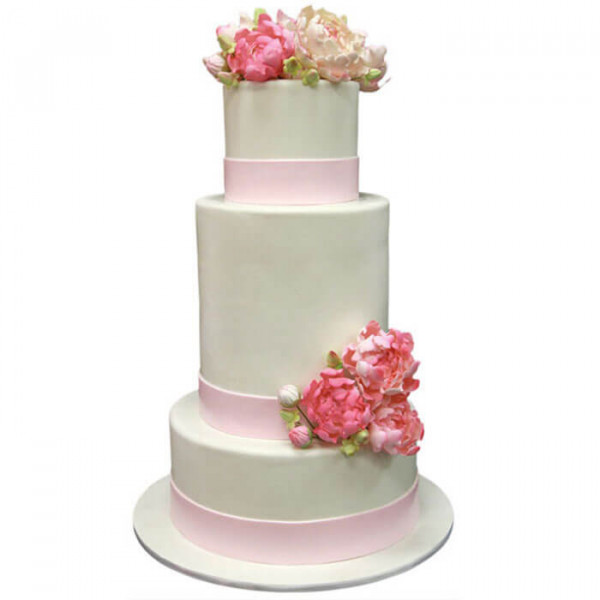 Multi Tier Colored Wedding Cake