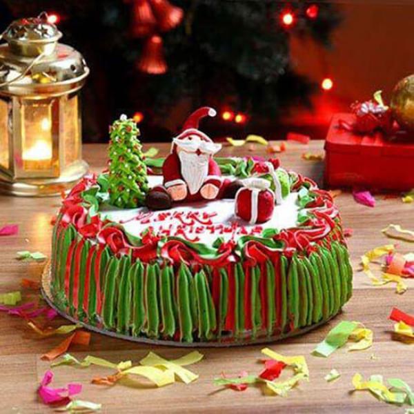 Santa Claus Chocolate Cake