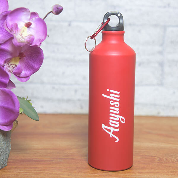 Personalised Unisex Red Bottle with Name