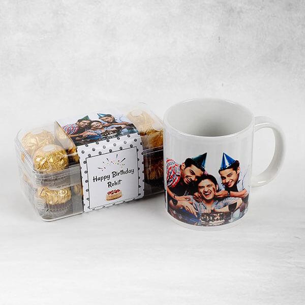 Personalised Ferrero Rocher & Mug Combo Birthday