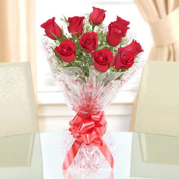 Red Roses Bouquet 10 Red Roses