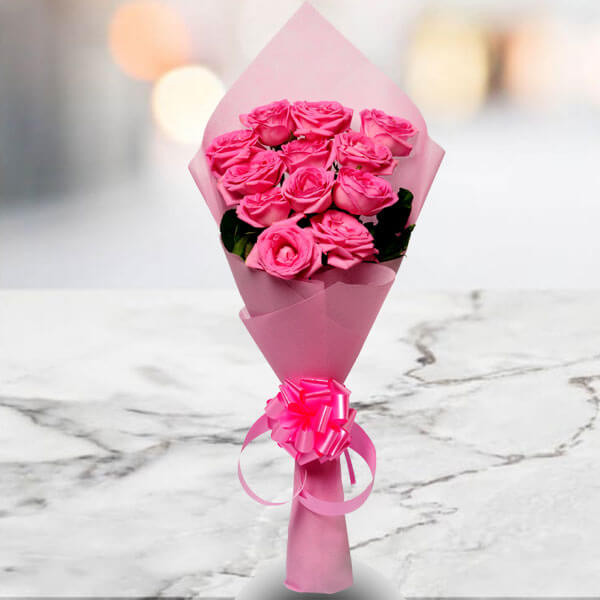 Pink Beauty 12 Pink Roses Online